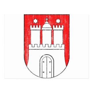 Aged Coat of arms of Hamburg Postcard