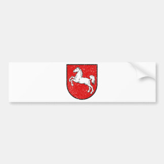 Aged Coat of arms of Lower Saxony Bumper Sticker