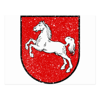 Aged Coat of arms of Lower Saxony Postcard