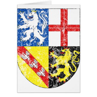 Aged Coat of Arms of Saarland Card
