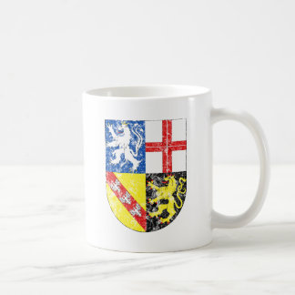 Aged Coat of Arms of Saarland Coffee Mug