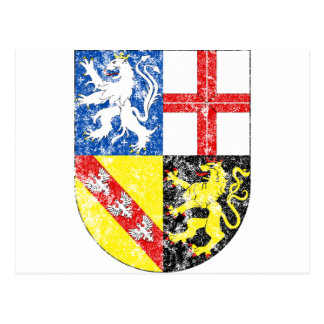 Aged Coat of Arms of Saarland Postcard
