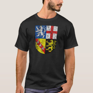 Aged Coat of Arms of Saarland T-Shirt
