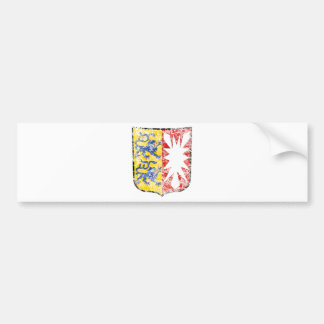 Aged Coat of arms of Schleswig Holstein Bumper Sticker