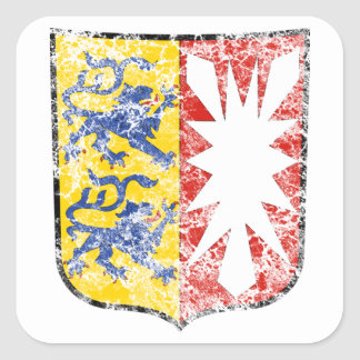 Aged Coat of arms of Schleswig Holstein Square Sticker
