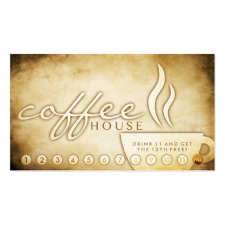 aged coffee house loyalty card