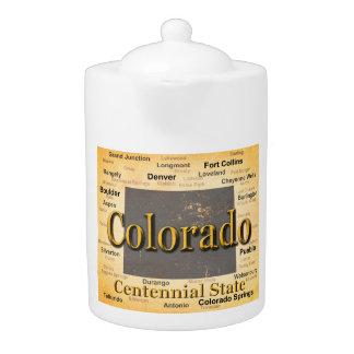 Aged Colorado State Pride Map Silhouette