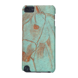 Aged Copper Engraved Horse iPod Touch 5G Covers