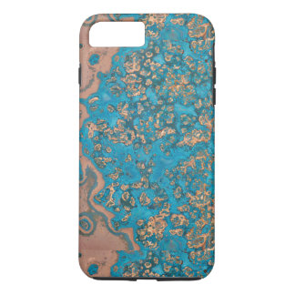 Aged Copper Patina iPhone 7 Plus case