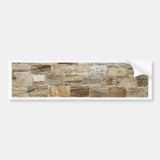 Aged Country Brickwork Bumper Sticker