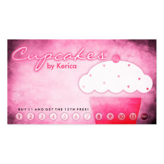 aged cupcake shop loyalty card Double-Sided standard business cards (Pack of 100)
