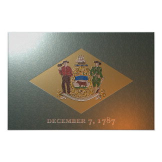 Aged Delaware flag Posters