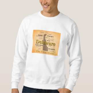 Aged Delaware State Pride Map Sweatshirt