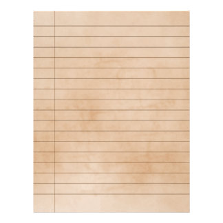 Aged Effect Vintage Ruled Paper