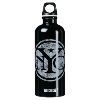 Aged Faded NYC Aluminum Water Bottle