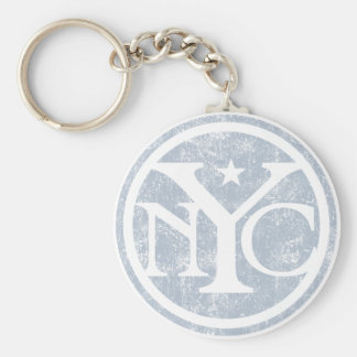 Aged Faded NYC Key Chains