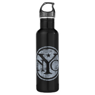 Aged Faded NYC Stainless Steel Water Bottle