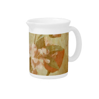Aged Flowers Beverage Pitcher