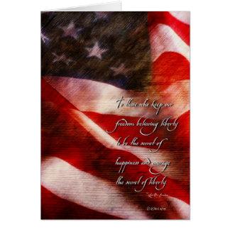 Aged Freedom Flag-b Card