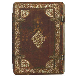 Aged Gilded Leather Lockable Book Cover