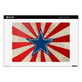 "Aged Glory - Red, White and Blue 13"" Laptop Decals"