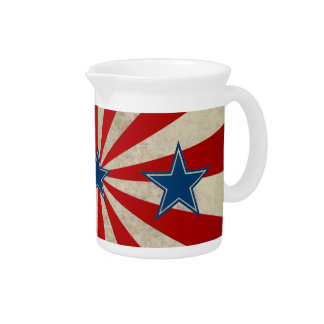 Aged Glory - Red, White and Blue Drink Pitcher
