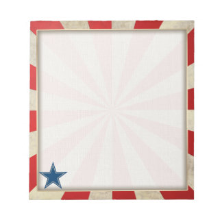 Aged Glory - Red, White and Blue Memo Note Pad