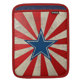 Aged Glory - Red, White and Blue Sleeve For iPads