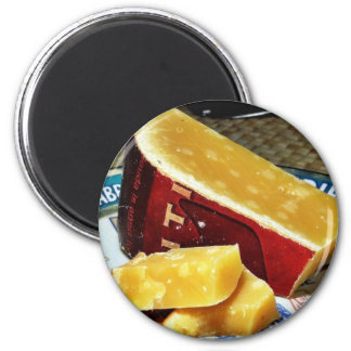 Aged Gouda Cheese 2 Inch Round Magnet