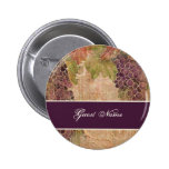 Aged Grape Vineyard Save the Date Postage 2 Inch Round Button