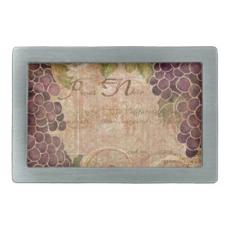 Aged Grape Vineyard Watercolor Home Decor Rectangular Belt Buckle