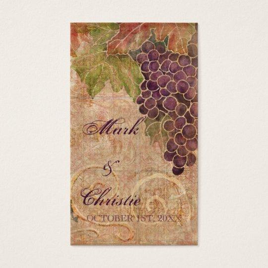 Aged Grape Vineyard Wedding Favor Gift Cards