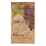 Aged Grape Vineyard Wedding Favor Gift Cards Double-Sided Standard Business Cards (Pack Of 100)
