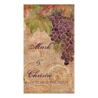 Aged Grape Vineyard Wedding Favor Gift Cards Business Card Templates