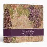 Aged Grape Vineyard Wedding Planner Binder