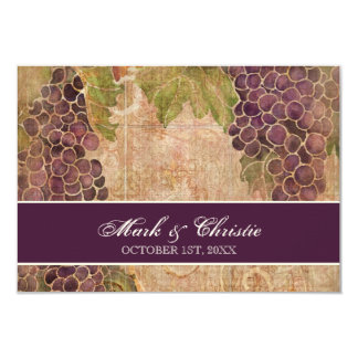 Aged Grape Vineyard Wedding RSVP Response Card Invites