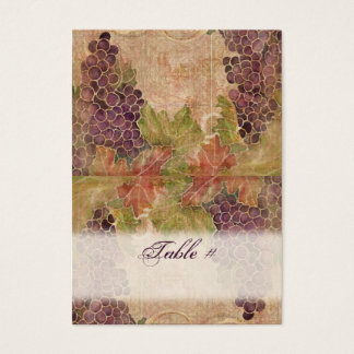 Aged Grape Vineyard Wedding Table Place Cards
