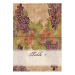 Aged Grape Vineyard Wedding Table Place Cards Large Business Cards (Pack Of 100)