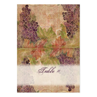 Aged Grape Vineyard Wedding Table Place Cards Business Cards