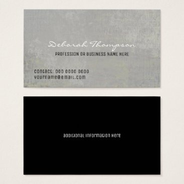 Professional Business aged gray background elegant professional business card