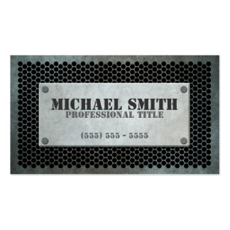Aged Industrial Plate on Steel Mesh Effect Double-Sided Standard Business Cards (Pack Of 100)