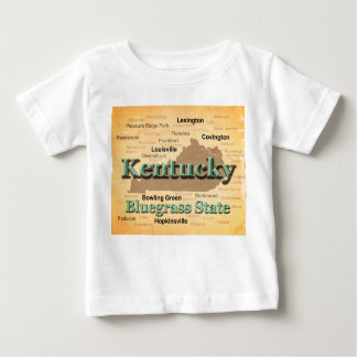 Aged Kentucky State Pride Map Silhouette Baby T-Shirt