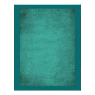 Aged Look Plain Aqua Blue Scrapbook Paper Letterhead