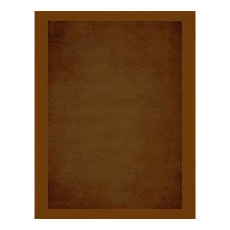 Aged Look Plain Brown Scrapbook Paper Letterhead