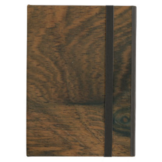 Aged Mahogany Faux Wood Texture Cover For iPad Air