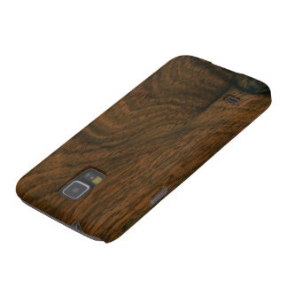 Aged Mahogany Wood Texture Case For Galaxy S5