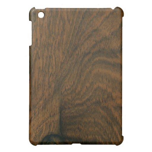 Aged Mahogany Wood Texture Case For The iPad Mini
