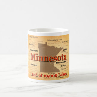 Aged Minnesota State Pride Map Coffee Mug