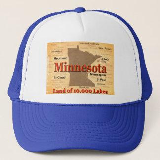 Aged Minnesota State Pride Map Trucker Hat