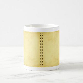 aged note pad magic mug